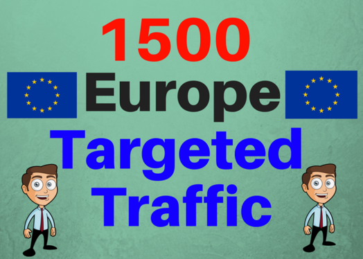 Provide 1,500  Europe Web Traffic Visitors