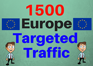 I will Provide 1,500  Europe Web Traffic Visitors