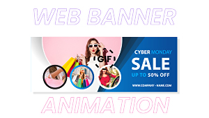 I will create GIF animated for web banners in your design