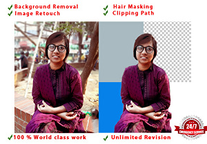 I will do Photoshop editing background removal for 10 images