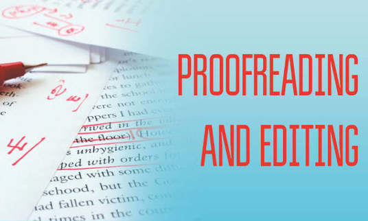 professionally edit and proof read any documents