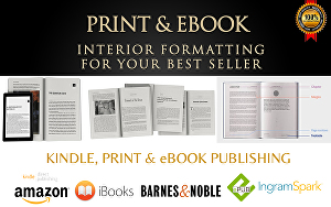I will Format and Publish your book For Kindle & Print on Amazon and over 8 major eBook p