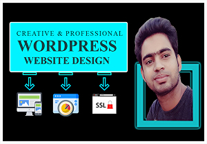 I will do creative and professional WordPress website design in 24hr
