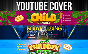 I will design a professional, unique, and eye catching YouTube banner, cover just for you