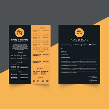 design your curriculum vitae, resume and cover letter design
