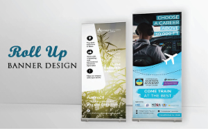 I will design professional and eye Catching roll Up banner