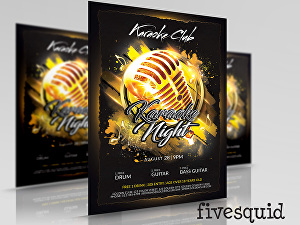 I will  do comedy night, and karaoke night, flyers and posters
