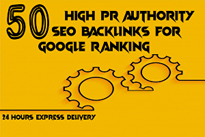 I will do 50 high pr authority SEO backlinks for google ranking