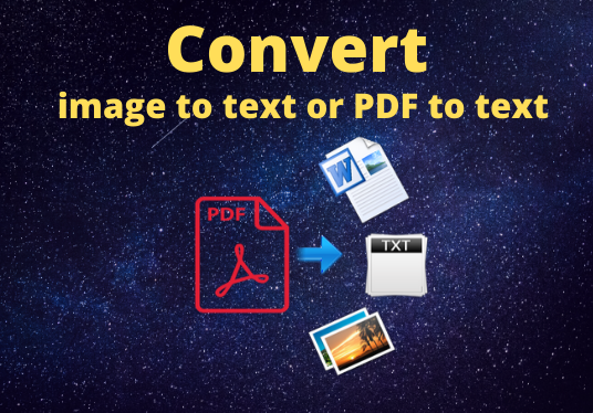 Convert image to text or PDF to text
