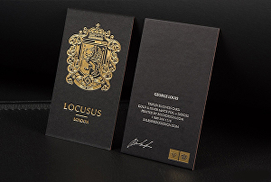 I will do spot uv and foil print luxury business card design