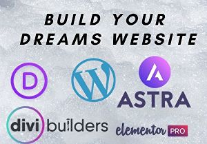 I will design and build a website, using Divi theme or Astra Elementor