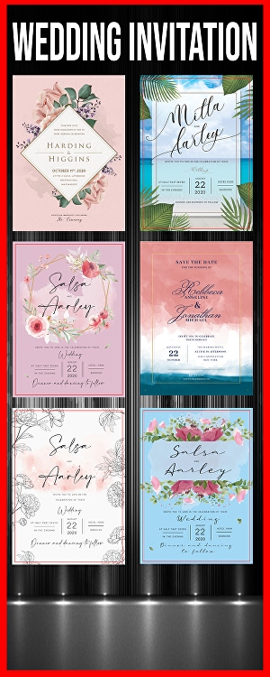 I will create beautiful Wedding invitation