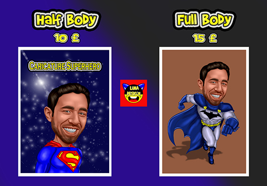 cccccc-make a photo into awesome SUPERHERO caricature