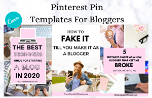 I will design Pinterest pin templates for bloggers