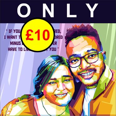 draw colorful portrait illustrations for couples, families, weddings