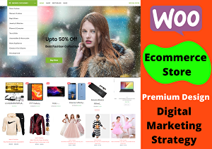 I will develop wordPress woocommerce online store