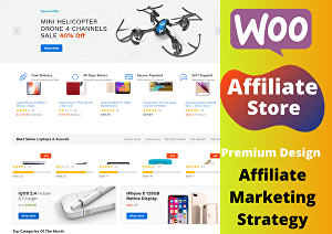 I will develop Amazon affiliate eCommerce website