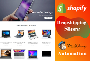 I will develop automated Shopify dropshipping store