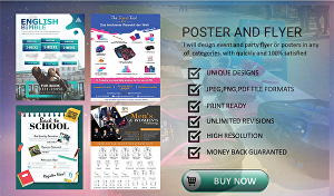 I will design elegant flyer or poster