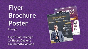 I will create flyer poster and brochure in 24 hours