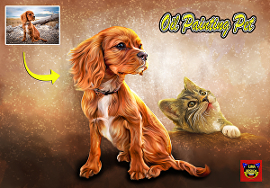 I will draw a Professional pet oil painting for you