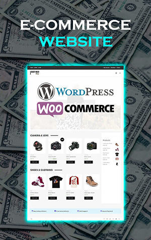 I will develop eCommerce website, create eCommerce website, build eCommerce website