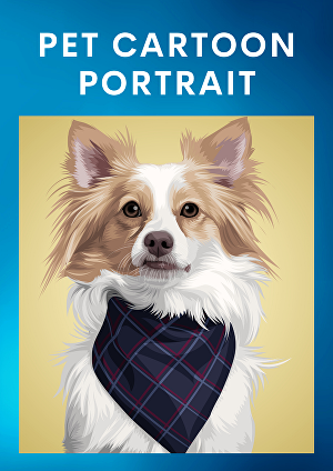 I will Draw a Digital Portrait of Your Pet