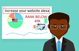 I will increase your USA alexa rank below 49k