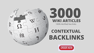 I will Create 3000 High Authority Wiki Backlinks To Boost Website Rankings