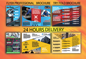 I will design brochure, try fold, bi fold, flyer and business flyer