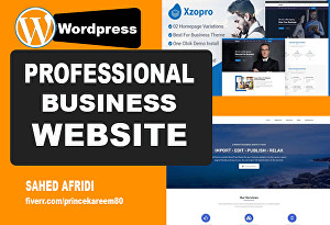 I will create professional business wordpress website design