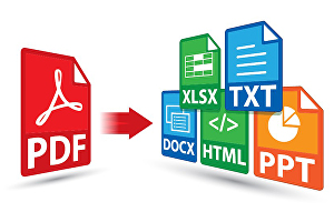 I will convert PDF file to to txt, doc, xls, htm file