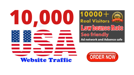 Drive 10,000 Real and High Quality USA Traffic To Your Website