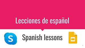 I will give you spanish lessons on skype