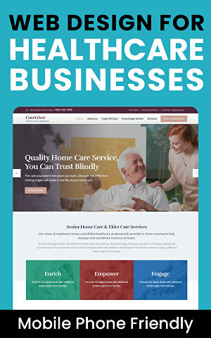 I will design a website for your healthcare business