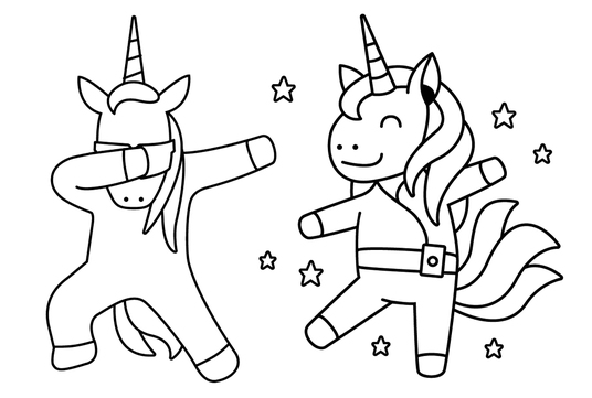 create an awesome black and white line art