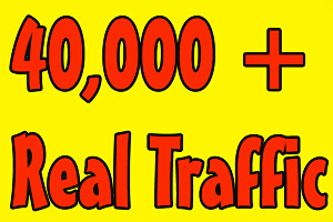 I will Give You Fast 40.000 real Worldwide website traffic visitors from all Countries