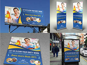 I will design a backdrop banner, signage, billboard, retractable banner