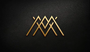 I will do luxury monogram modern minimalist logo design