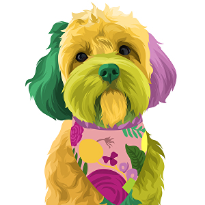 I will Draw Your Pets Into Funny Full Colours Pop Art Vector in 24 hours
