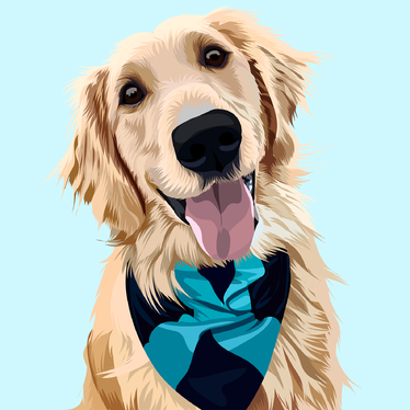make vector illustration dog cat animal pet cartoon portrait in 24 hours