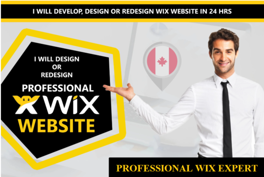 design, redesign or develop professional business wix website in 24hrs