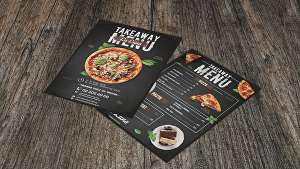 I will design a professional one sided menu