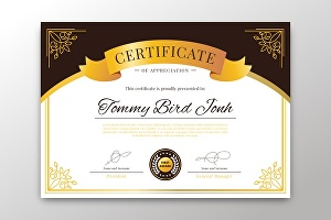 I will design certificate for you