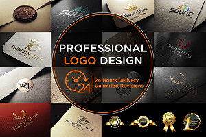 I will Give You World Class High Quality Logo with Unlimited Revision in 24 Hour