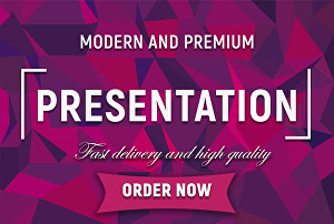 I will create modern and premium powerpoint presentation design