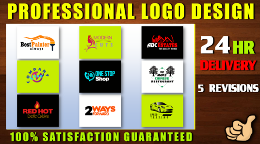 do professional logo design with five revisions