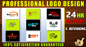 I will do professional logo design with five revisions