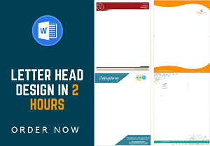 I will design a letter head for your company