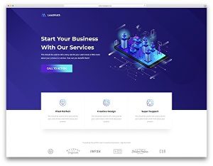 I will Design you a stunning landing page with analytics